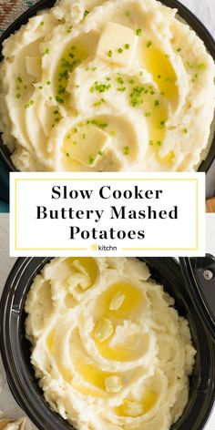 Easy Garlic Butter Mashed Potatoes In the Slow Cooker or Crockpot. Need recipes and ideas for simple sides and side dishes that are comfort food approved? This creamy potato dish is perfect for holida Crockpot Mashed Potatoes, Crock Pot Potatoes, Garlic Mashed Potatoes, Russet Potatoes, Make Ahead Mashed Potatoes, Mashed Potatoes With Heavy Cream Recipe, Simple Mashed Potatoes, Best Mashed Potatoes Ever, Homemade Mashed Potatoes
