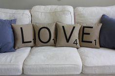 LOVE Letter Pillows
