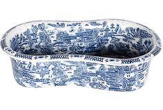 Chinese Blue & White Porcelain Foot Bath