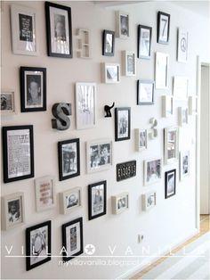 Inspiración: una pared llena de marcos, letras y laminas