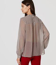 Thumbnail Image of Color Swatch 4899 Image of Lattice Ruffle Blouse