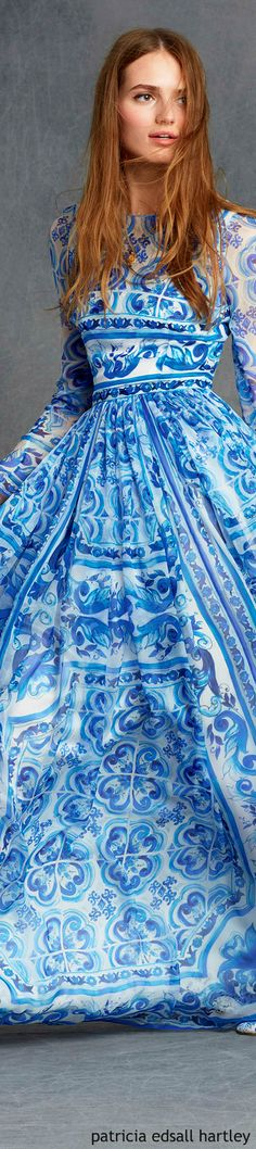 Dolce & Gabbana - I am obsessed with their Majolica 2016 collection! The blue and white is so fresh - reminds me of the Mediterranean