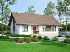 Wizualizacja ARN Mokka 3 CE Simple House Plans, Small House Design, Home Design Plans, Facade House, Architect Design, Home Fashion, Bungalow, Tiny House, Shed