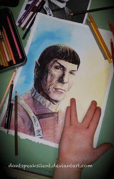 GISHWHES Leonard Nimoy by DontSpeakSilent on DeviantArt Stark Trek, Leonard Nimoy, The Final Frontier, My Crush, Deviantart, Color, Colour, Colors