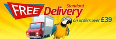 Free Delivery on orders over £39 from Parrot Essentials
