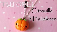 tutorial: miniature Halloween pumpkin necklace