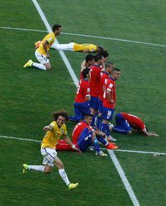 Júlio César herói, choro de Neymar e alívio; veja fotos de Brasil x Chile
