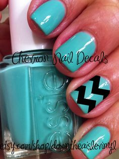 Chevron Nail Decals Set of 50 by DownTheAisleVinyl on Etsy, $4.00 I WANT THESE