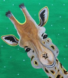 Well, hello there :) Giraffe Painting, Painting & Drawing, Moose Art, Canvas Art, Colorful, Fine Art, Artist, Artwork, Animals