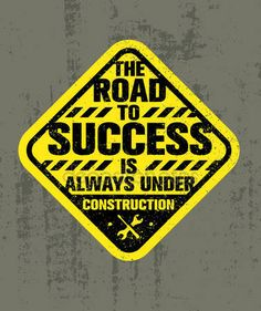 Droga do sukcesu jest zawsze w budowie — Grafika wektorowa © wow.subtropica #117299390