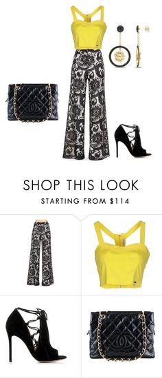 """Untitled #1099"" by cookmary ❤ liked on Polyvore featuring Alice + Olivia, Fornarina, Gianvito Rossi, Chanel and Versace 19•69"