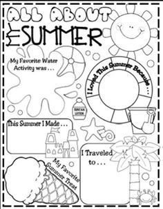 Another icebreaker activity. This worksheet asks the students about their summer. The students could fill these out on the first day of school and then share them with the class. Transition from summer to the classroom is often difficult so allowing the students to reflect on their fun times will make the transition easier.