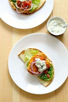 These Tandoori Chicken Naan Burgers are a great way to enjoy Indian food with a twist!