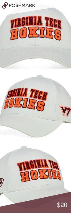 180180f4aa5 NCAA Virginia Tech Hokies Snapback Cap White NWT NWT