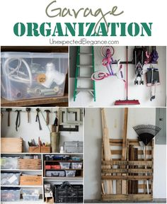 If you garage a disaster zone? Get some great tips for organizing the garage and keeping it organized! (You save money when you can find things and it alleviates some of un-need stress! Garage Organization Tips, Organization Station, Life Organization, Garage Storage, Storage Area, Garage Ideas, Staying Organized, Organized Garage, Garden Tool Storage
