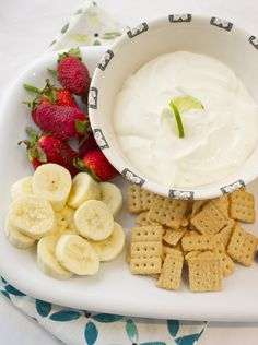 fresh key lime greek yogurt dip