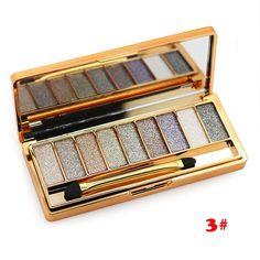 2015 New 9 colors diamond bright colorful eye shadow super flash Glitter eyeshadow palette wholesale