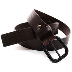 (JPB007-DARKBROWN) Casual Leather Belt from W28 to W35