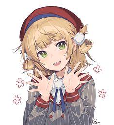 Manga Anime Girl, Anime Child, Anime Girl Cute, Kawaii Anime Girl, Anime Art Fantasy, Blondes Anime Girl, Anime Girl Crying, Bear Girl, Anime Kunst