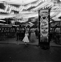 """Las Vegas scene, 1955. Photo by Loomis Dean. """