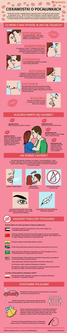 Wszystko, co chcielibyście wiedzieć o pocałunkach [INFOGRAFIKA] Self Improvement Tips, Cute Couples Goals, Health Advice, Good To Know, Flirting, Life Lessons, Fun Facts, Psychology, Life Hacks