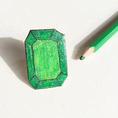 Ring drawn on shrink plastic