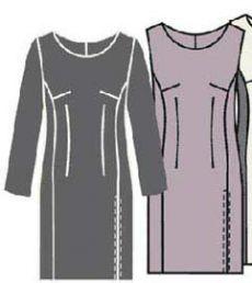 Выкройка платья футляр - Porrivan. Бесплатные выкройки для шитья одежды