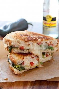 This chili relleno grilled cheese sandwich is so mouth watering!