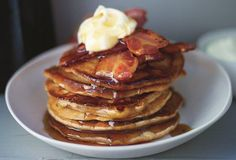 Gingerbread pancakes with Parma ham: http://gustotv.com/recipes/breakfast/gingerbread-pancakes-parma-ham-maple-syrup/
