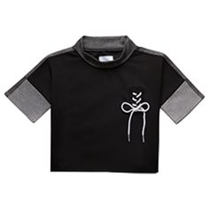 Black crop top with lace bow Lace Bows, Crop Tee, Dark Grey, Sweatshirts, Tees, Sweaters, Mens Tops, T Shirt, Shopping