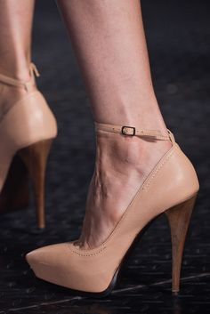 Lanvin Nude Ankle Strap Pumps Spring 2013 RTW #Shoes #Heels #Classy