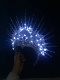 mens accessories – High Fashion For Men Dark Costumes, Light Up Costumes, Halloween Rave, Lovely Creatures, Creatures Of The Night, Mermaid Crown, Headpiece, Headdress, Led Fairy Lights