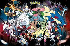 Pokemon Mega Poster 36 x 24in - http://centophobe.com/pokemon-mega-poster-36-x-24in/ -