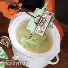 "Read Family Handyman's DIY trick to remove paint from hardware without harsh chemicals or fumes! It's so simple you'll be shaking your head saying, ""why didn't I think of that?"""