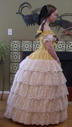 An 1855 Ball Gown (reproduction), for the Eugenie Project