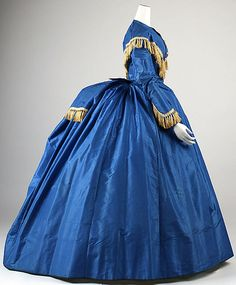 1868 Silk Wedding Dress, American.