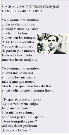 (Federico García Lorca) Spanish Love Poems, Live Love Life, Best Poems, Love Thoughts, Post Quotes, Texts, Literature, Encouragement, Poetry