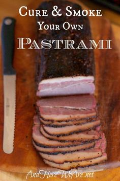 You Can: Make Your Own Pastrami! Cure Your Own Pastrami at Home!Cure Your Own Pastrami at Home! Best Cheese, Meat And Cheese, Beef Recipes, Real Food Recipes, Sausage Recipes, Lunch Recipes, Smoked Meat Recipes, Salmon Recipes, Easy Recipes