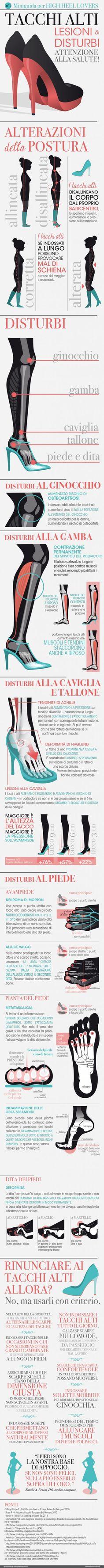 Miniguida per high Heel lovers: attenzione alla salute! infographics designed for esseredonnaonline.it- illustrated by Alice Kle Borghi, kleland.com