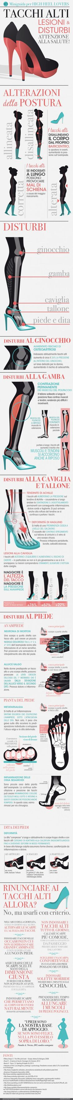 Miniguida per high Heel lovers: attenzione alla salute! infographics designed for esseredonnaonline.it- illustrated by Alice Kle Borghi, kleland.com