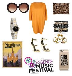 Essence Festival #1 by keegardner on Polyvore featuring polyvore, fashion, style, Toast, Giuseppe Zanotti, Clare V., Samantha Wills, Movado, Chanel, Casetify and Valentino