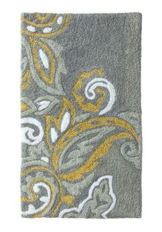 Little bathroom inspiration rug. Grey and yellow
