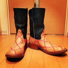 福禄寿別注Rios ColombiaPlayboyこの配色センス素晴らしい✨#アメカジ#リオスオブメルセデス#riosofmercedes#福禄寿#リオスオブメルセデスローパー#ブーツ#boots