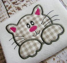 Applique Cat machine embroidery design, applique kitten design, embroidery cat, applique design, app
