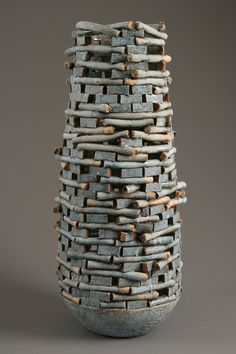 "ceramics by Jim Kraft, ""Blue Keep"""