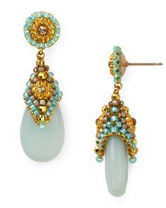 Miguel Ases Beaded Amazonite Drop Earrings | Bloomingdale's