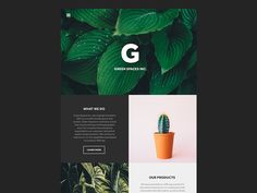 Green Spaces Inc. is a minimal template design available for download in the near future.