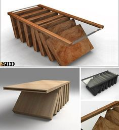Domino Theory by SIDD Fine Woodworking. Bump it and it might all fall down.