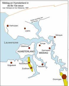 Middag en Humsterland in de 8e tot de 10e eeuw.