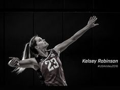 Former Nebraska Volleyball player, Kelsey Robinson.